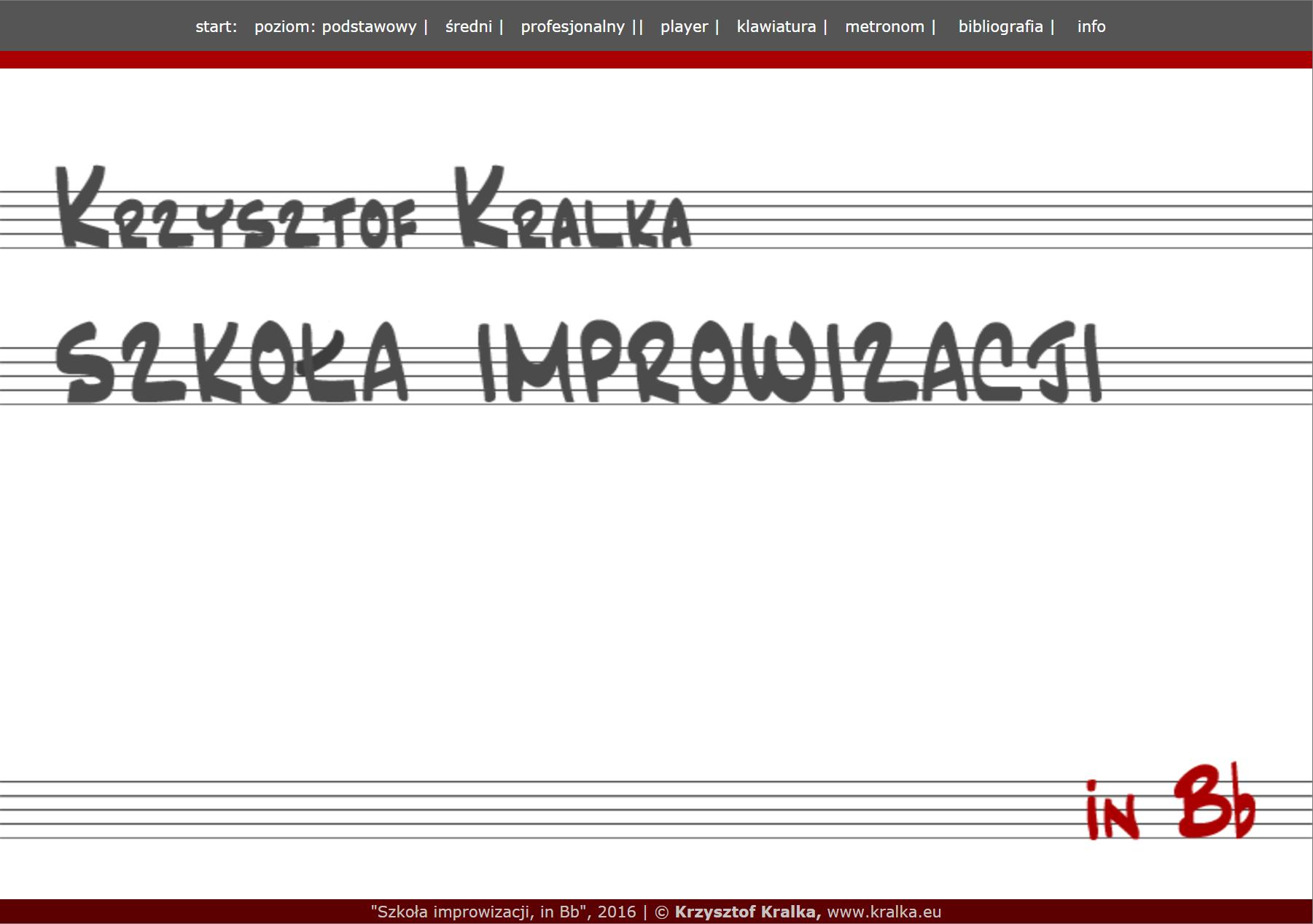 Szkoła improwizacji, inBb